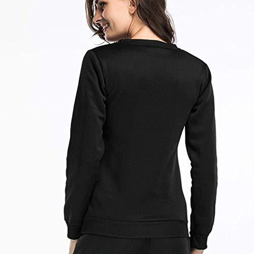Tunics Noir Sweat Smiley X Taille Couleur Zhrui Vêtements Élégant Crewneck Pullover Tops shirt large imprimé Blouse décontractée Face Casual Street fqAwaOd