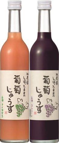 林農園 天然果汁100% しぼったままの葡萄じゅうす 500ml ナイヤガラ×3本 コンコード×3本