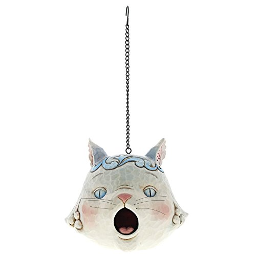 Enesco Jim Shore Heartwood Creek 6001602 Cat Head Birdhouse ()