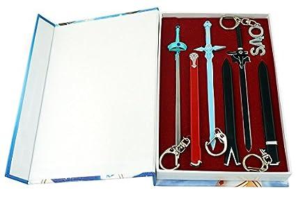 Sword Art Online - Juego de llaveros con Espada y Espada de ...