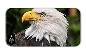 Hipster design iPhone 4S case Bald Eagle PC 3D for Apple iPhone 4/4S by runtopwell
