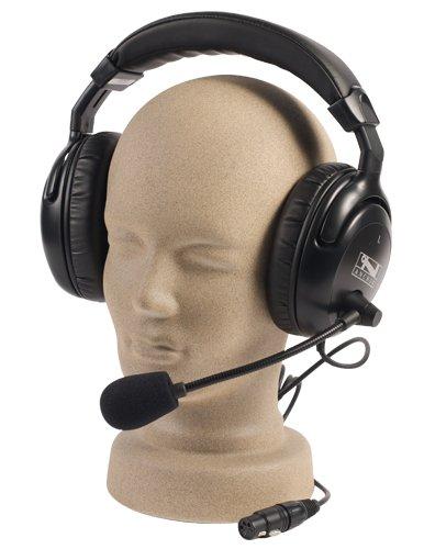 Portacom Intercom (Anchor Audio, Dual Muff Headset with Mic for PortaCom/ProLink, H-2000)