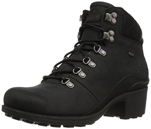 Merrell Women's Chateau Mid Lace Waterproof Snow Boot, Black, 9 M US
