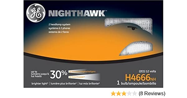 Amazon.com: GE Lighting H4666NH Nighthawk Automotive Headlight Bulb: Automotive