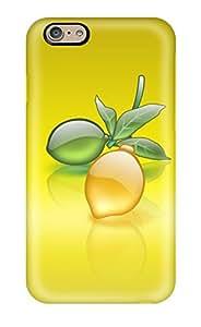 Hot 4690354K22798710 Premium Protective Hard Case For Iphone 6- Nice Design - Aqua Lemon