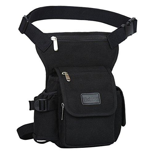Eshow Men's Drop Leg Pouch Tools Bags Tactical Leg Bag Fanny Pack Thigh Bags Bike Cycling Hip Bag Canvas Waist Packs