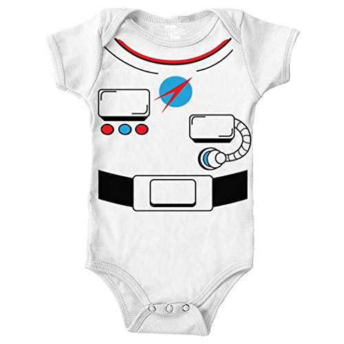 Tcombo Astronaut Costume Bodysuit (White, 6 Months)