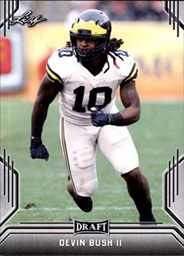 2019 Leaf Draft #21 Devin Bush II (RC - Rookie Card)(NFL Football Draft Pick) NFL Football Card NM-MT