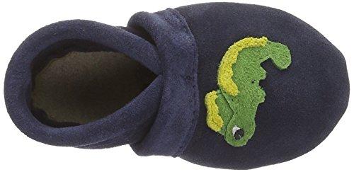 Haflinger Eddy - Zapatillas de casa Bebé-Niñas Océano Azul (Ocean)