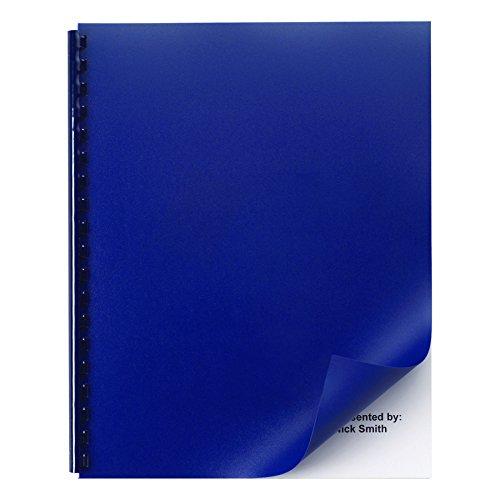 GBC Solids Standard Presentation Covers, Non-Window, Square Corners, Navy, 50 Pieces Per Box (2514494) ()