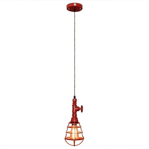 Fuloon Loft Retro Industrial Suspensión Lámpara de Pipe Tubo ...