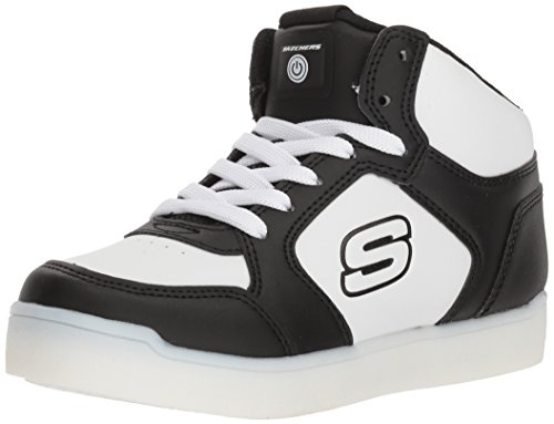 Skechers Kids Mid Top Lace Up Shoe W/Hidden Sneaker