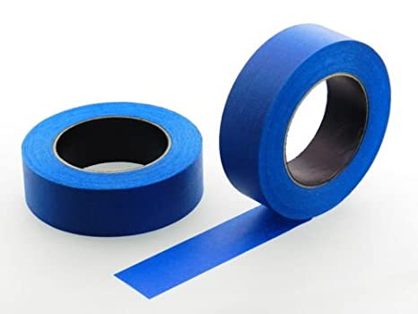 """2pk 1.5"""" in x 60 yd Blue Painters Tape PROFESSIONAL Grade Masking Edge Trim Easy Removal (36MM 1.41 inch)"""
