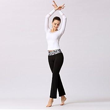 HBA Malla de la Mujer Patchwork Yoga Camiseta de Manga Larga ...