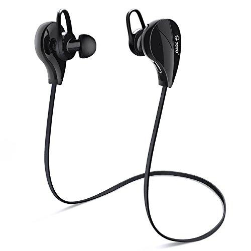 Bluetooth Headphones, TOTU Wireless Sports Earphones in Ear Earbuds W/Mic Noise Cancelling Secure Fit for Gym...