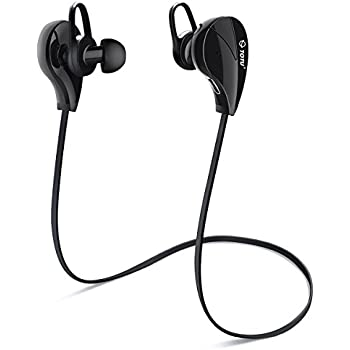 Bluetooth Headphones, TOTU V4.1 Stereo Noise Isolating Sports Sweatproof Headset with Mic for iPhone 7 Samsung Galaxy S7 and Android Phones [Upgraded Version], Black