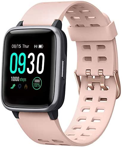 Willful Smart Watch for Android Phones Compatible iPhone Samsung IP68 Swimming Waterproof Smartwatch Sports Watch Fitness Tracker Heart Rate Monitor Digital Watch Smart Watches for Men Women (Pink)