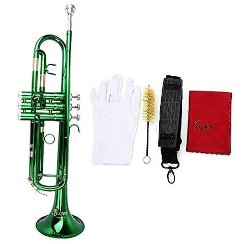 SSJSHOP Brass Green-Plated Beginner Trumpet