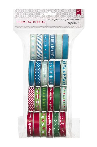 American Crafts Value Pack Ribbon for Scrapbooking, Christmas/Winter by American Crafts