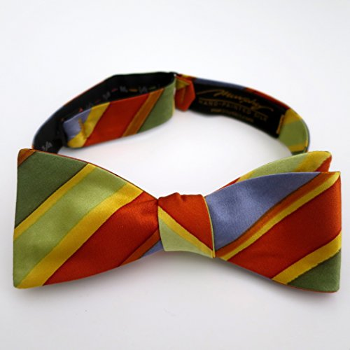100% Silk Hand-Painted Hand-Made Men's Self Tie Bow Tie ''Spring Line'' Art to Wear by Murphyties by Murphyties Inc.