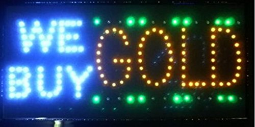 CHENXI Led We Buy Gold/ Italy 92.5 Silver Jewelry Gold Shop Neon Sign Bigger 60 X33CM Indoor Ultra Bright Shop Store Sign of Business Open Led Signs (60 X 33 CM, we buy gold) by CHENXI