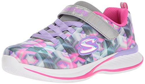 Lavender Girls Shoes - Skechers Kids Girls' Jumpin' Jams Sneaker,Silver/Pink/Lavender,2 Medium US Little Kid