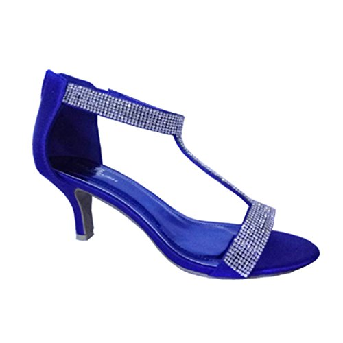 T en Bleu satiné roi Femme Krasceva Barre qFwUHE464
