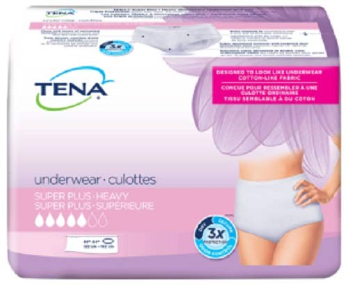 Tena Women Protective Underwear, Super Plus, Small/Medium, Case/72 (4 bags of 18)