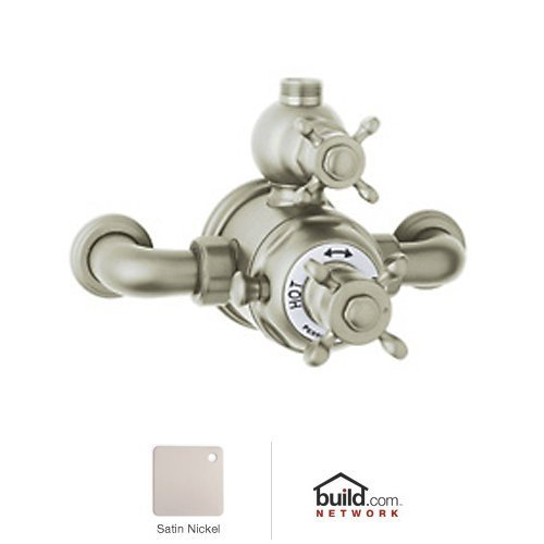 Rohl U.5552X-STN A3403Lcapc Perrin and Rowe Exposed Thermostatic Shower Valve Trim Only, Satin - Mixer Rowe Shower Exposed Thermostatic