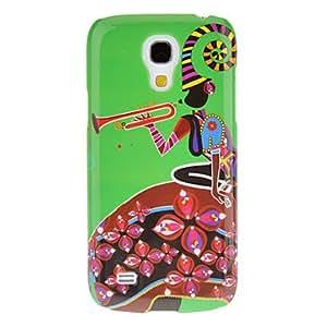 Piping Patrón Chica protector duro Volver Funda para el Samsung Galaxy S4 Mini I9190
