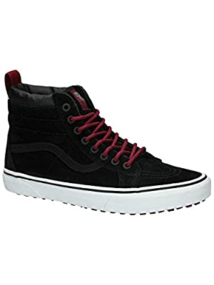 Vans Men's SK8-Hi (MTE) Black/Beet Red Skateboarding Shoes (8 Women/6.5 Men M US)