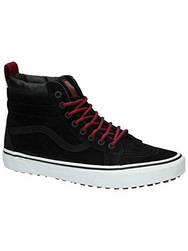 Vans Men's SK8-Hi (MTE) Black/Beet Red Skateboarding Shoes (8 Women/6.5 Men M - Noten Mens Shoes Van Dries