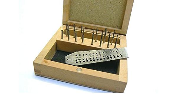 Tungsten Steel Tap and Die Screw Plate Set 14 Taps Jeweler Watchmaker Making Kit