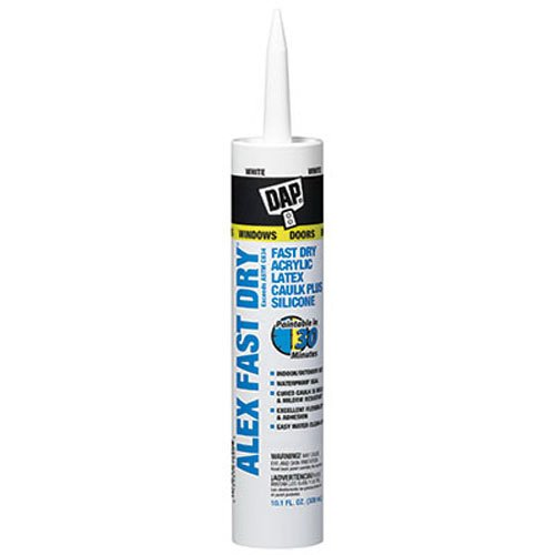 Dap 18425 Alex Fast Dry Acrylic Latex Caulk Plus Silicone 10.1-Ounce