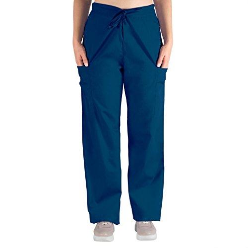 98.6 Nurse Scrubs for Men & Women: Unisex Medical Nursing Pants 2 Cargo Pockets L (Short Smock)