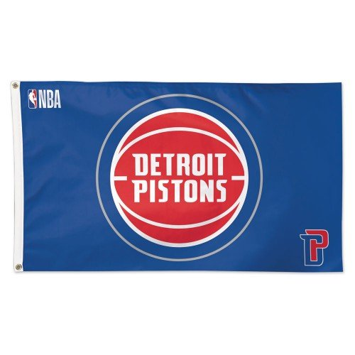 WinCraft NBA Detroit Pistons Deluxe Flag, 3' x 5'
