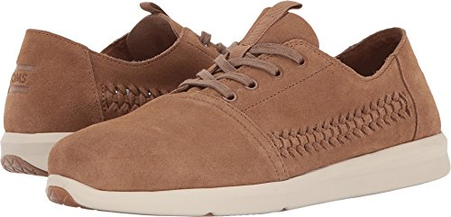 Toms Men's Del Rey Suede Sneaker, Size: 9.5 D(M) US, Color: Toffee Woven Suede (1067 Pull)