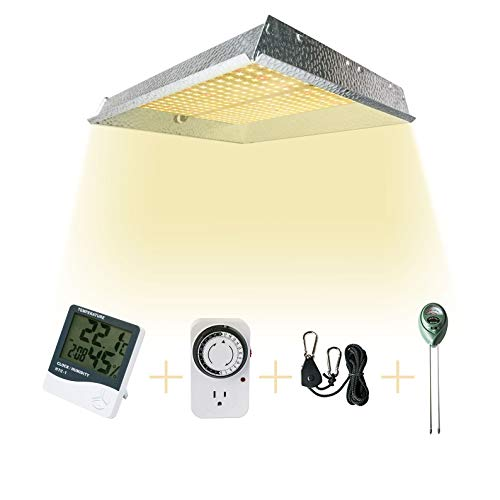 MARS HYDRO TS 1000W Led Grow Light Full Spectrum for Indoor Plants Growing Bloom with Updated LEDs White Grow Light with Dimmer Thermometer Hygrometer Timer PH Meter Hanger (Marshydro TS 1000W)