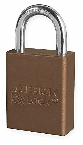 Brown Lockout Padlock, Alike Key Type, Aluminum Body Material