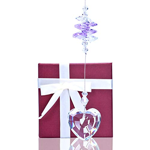 - Crystalsuncatcher Crystal Glass Heart Prism Suncatcher Window Hanging Ornament Gifted Box