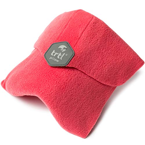 Trtl Pillow - Scientifically Proven Super Soft Neck Support Travel Pillow - Machine Washable (Coral)