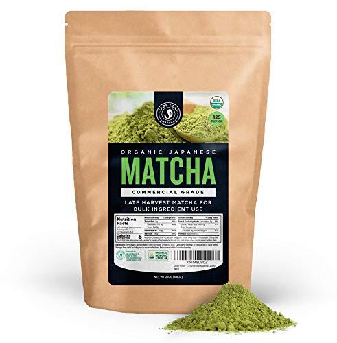 Jade Leaf - Organic Japanese Matcha Green Tea Powder, Commercial Grade - [250g Value Size] (Commercial Grade Leaf)