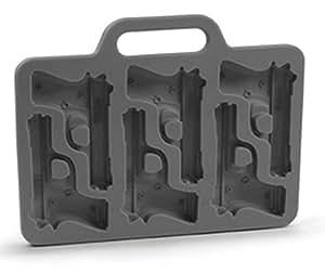 AmaranTeen - Stylish Gun Shaped Silicone Ice Cube Mould Mold Tray DIY