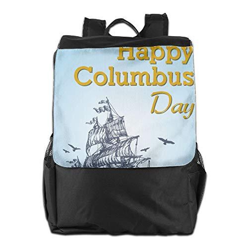 Hombro School Columbus diurno Libre Almacenamiento Mochila Happy para Personalizada Hombres con Aire Viaje y Correa HSVCUY para Ajustable al para el Day Mujeres Camping n0Fazaqx