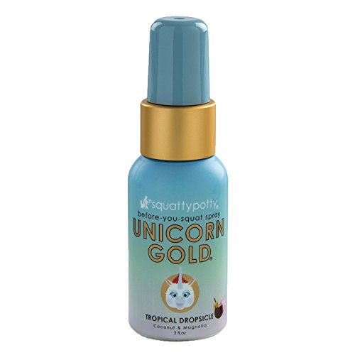 Squatty Potty Unicorn Gold Toilet Spray 2 Oz Tropical