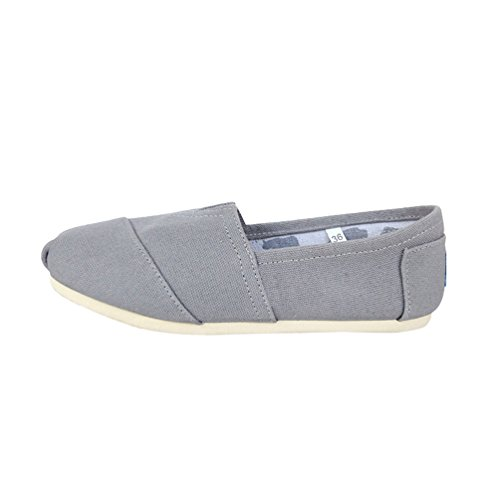 Scarpe Grigio Casuale Flats Moda Unisex on Uomo Espadrillas Tinta Unita Loafers Dooxii Chiaro Scarpe Donna Slip Basse qwXZTwt