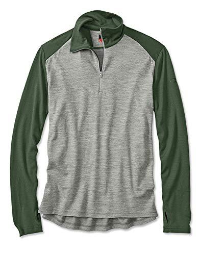 Orvis Icebreaker Tech Men's Half-Zip Pullover, Green, Xx Large