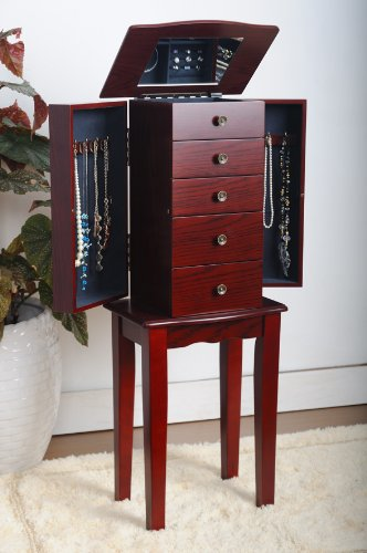 Cherry Jewelry Armoire Chest by eHomeProducts (Image #2)