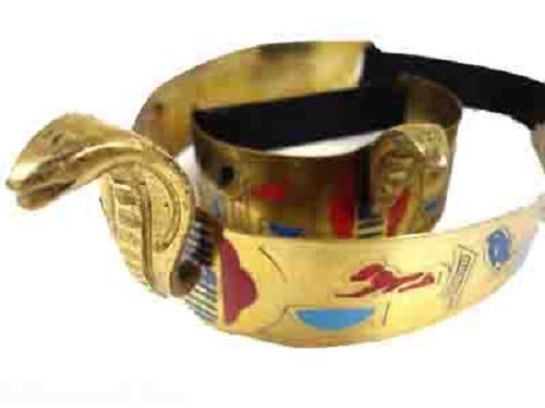 Belly Dance Costume Egyptian Metal Cleopatra Cobra Crown & Armlet Halloween 403 (Egyptian Halloween Accessories)