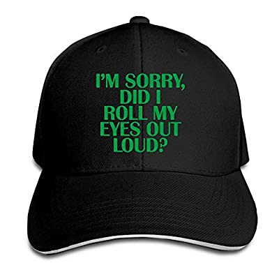 TB92ed&CW Unisex Retro I'm Sorry, Did I Roll My Eyes Out Loud Peaked Hat Cotton Trucker Hat for Mens and Womens